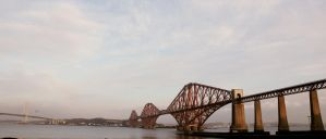 Forth Rail Bridge wide by Beachrockz4eva