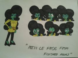 Flushed away Miss Le frog by Jelenadbz