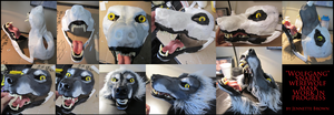 Snarly Werewolf Mask Progress by sugarpoultry