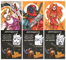 SketchCards: deadpool, buffy.. by Axigan