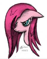 Pinkamena Freehand Sketch - Colored by AncientOwl