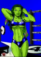 TGK's SHE HULK SWEAT by DeadDog2007