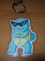 Squirtle Squad Leader Keychain by BlueSmudge