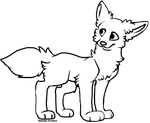Free Wolf Lineart by ShilohsFeather