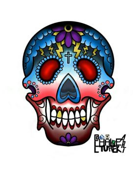 Sugar Skull by AllHaleTurekArt