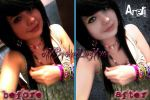 Areli :Before And After Edit: by Analy-Aranda