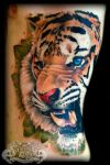 Tiger on ribs by state-of-art-tattoo