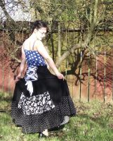 black and white bustle skirt by Morgan-La-Fey