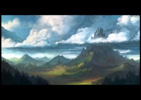 Mountain landscape by draken4o