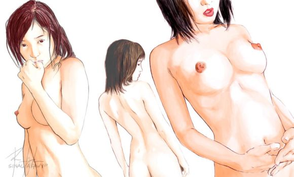First Nude by sinag-araw