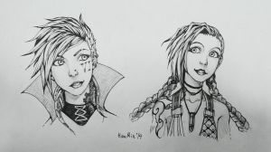 Jinx and Vi by HauRin