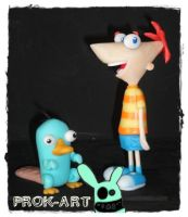 phineas y perry by prok-art