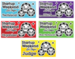 Startup Weekend LV Badges by helloxcthulhu