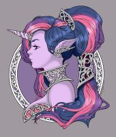 Iridae Nouveau - Colored as Twilight Sparkle by TraciBrooks