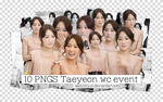 Pack 10 PNGs Taeyeon Woojin Coway Event by SeoLiliHyun