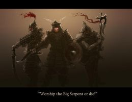 Worship the Big Serpent by Merlkir