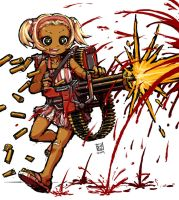 Minigun Girl by sachsen