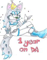 1st year on DA by glaciethewolf