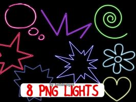8 PNG Lights by bettdesigns