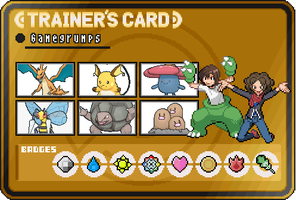Game Grumps Trainer Card Fire Red by OkaMilan