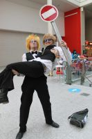 Shizuo and his Not so Mini Mini Me by StoppableUnforce