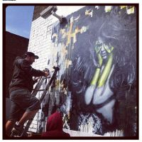 Working the wall - Leonard Street, 2012 by snikstencilstuff