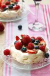 Pavlova with fruit sabayon by kupenska