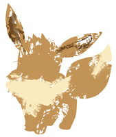 Eevee Paint Splatter Graphics by HollysHobbies