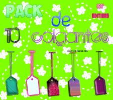 PNG pack de 10 colgantes by IisaEditions