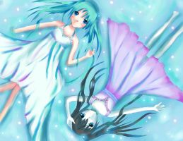 Miku and Black Rock Shooter by 5ammay