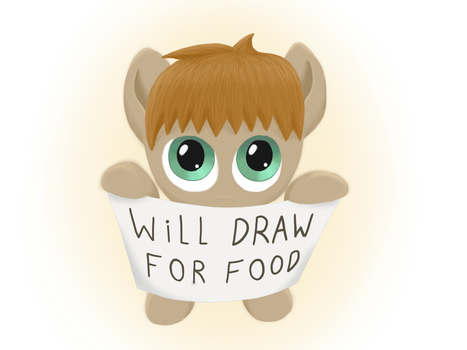Will draw for food by DuskSwordsman
