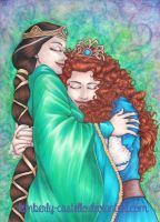 Disney: Brave-Merida and Elinor v2 by kimberly-castello