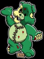 zombie care bear 2 by yayzus
