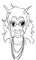Homestuck Feferi Fast Lineart by Kitty-Renemi