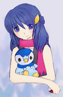 PKMN: dawn and piplup by blackquatre