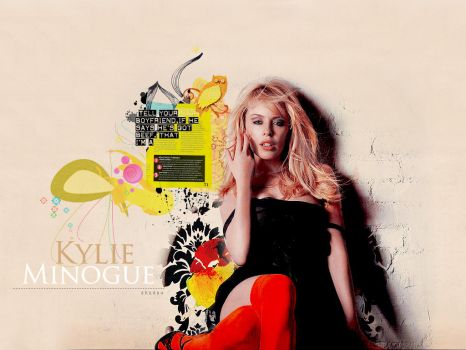 Wallpaper Kylie Minogue by shad-designs