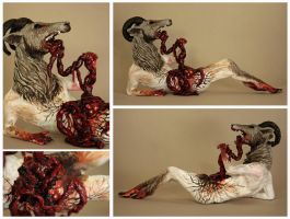 Phillipe - The Self-Cannibalistic Goat Wolf Man by scenceable