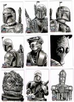 Star Wars Galaxy 7 sketchcards 3 by Frisbeegod