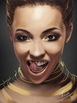 Digital Painting of 'Tinashe' by LaikenDesignz