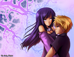 wallpaper Hinata and Naruto by LadyNaipes