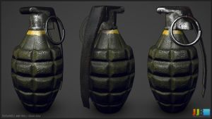 Pineapple Grenade - Textured by JeremiahBigley