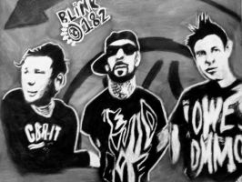 Blink-182 charcoal and chalk by Jagsrock