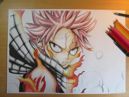 Natsu Dragneel- Fairy Tail by Tommydrawgames