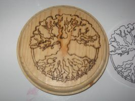 Tree of Life Plaque Altar Tile by WillowForrestall