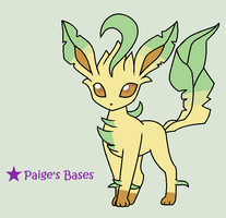 Leafeon Full Body Base by Paige-the-unicorn