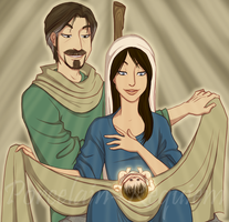 The Holy Family by Porcelain-Requiem