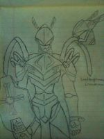 LoadKnightmon Drawing by Omnimon1996