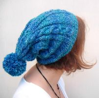 Slouchy Bobble Beanie by PolClary