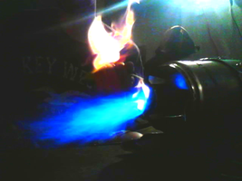 FIRE DOVE OVER BLUE FIRE by JOHNMAZDA777