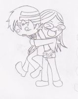 Hugging Kid uncolored by A-bob